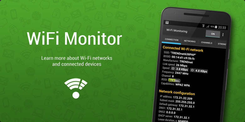Install Wi‑Fi Monitoring and explore your wireless environment!